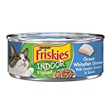 Purina Friskies Indoor Wet Cat Food, Indoor Flaked Ocean Whitefish Dinner in Sauce - (24) 5.5 oz. Cans