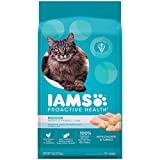 Iams Proactive Health Adult Indoor Weight Control & Hairball Control Dry Cat Food with Chicken, Turkey, and Garden Greens, 7 lb. Bag