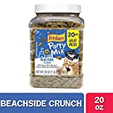 Purina Friskies Made in USA Facilities Cat Treats, Party Mix Beachside Crunch - 20 oz. Canister