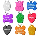 Pet ID Tag Custom for Dog Cat Personalized | Many Shapes and Colors to Choose From | Made in USA | Strong Anodized Aluminum