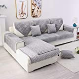 TEWENE Couch Cover, Sofa Cover Sofa Slipcover Couch Slipcover Washable Sectional Slipcover for Dogs Cats Pet Love Seat Recliner Grey(Sold by Piece/Not All Set)