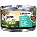 Purina Pro Plan Natural, Grain Free Pate Wet Cat Food, TRUE NATURE Natural Trout & Salmon Entree - (24) 3 oz. Pull-Top Cans