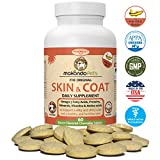 Skin and Coat Supplement for Dogs and Cats - Fish Oil for Dogs Fatty Acids, Vitamins, Amino Acids, Minerals & Omega 3 for dogs -Relieve Dog Dry Skin Itchy Dog Hot Spots & Shedding -60 Nutritional Tabs